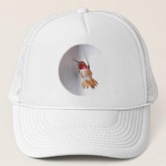 Hummingbird Flying Photo Trucker Hat