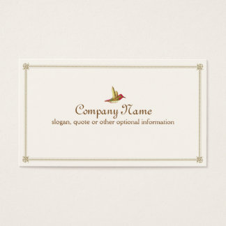Hummingbird French Inspired Vintage Business Card