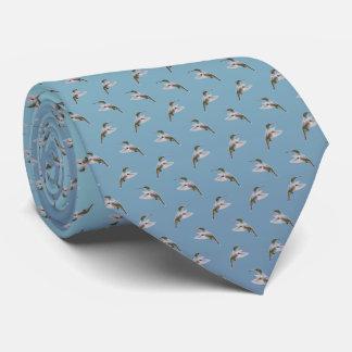 Hummingbird Frenzy Tie (Sky Blue)
