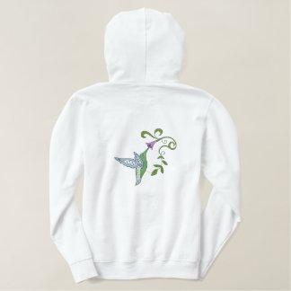 Hummingbird Garden Embroidered Hoodie