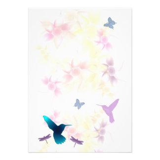 Hummingbird Garden Invitation for Customization
