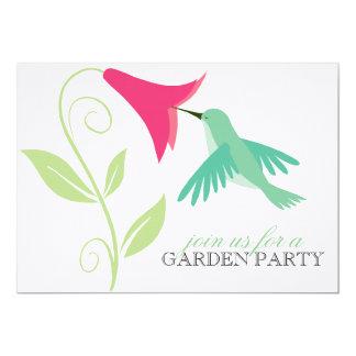 Hummingbird Garden Party Invitation