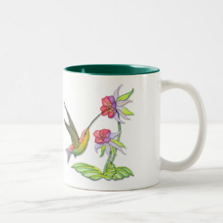 Hummingbird Garden Two-Tone Coffee Mug