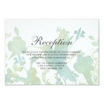 Hummingbird Garden Watercolor Wedding Reception Invitation