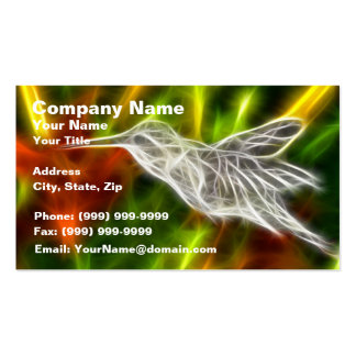 Hummingbird Getting Sweet Double-Sided Standard Business Cards (Pack Of 100)
