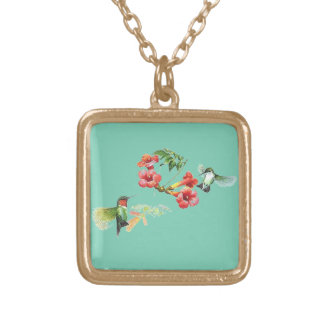Hummingbird Gold Plated Necklace