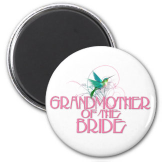 Hummingbird Grandmother of the Bride 2 Inch Round Magnet