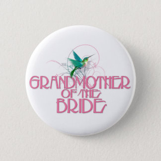 Hummingbird Grandmother of the Bride Button
