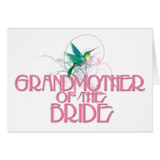 Hummingbird Grandmother of the Bride Greeting Card