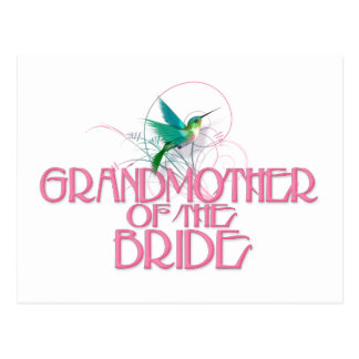 Hummingbird Grandmother of the Bride Postcard