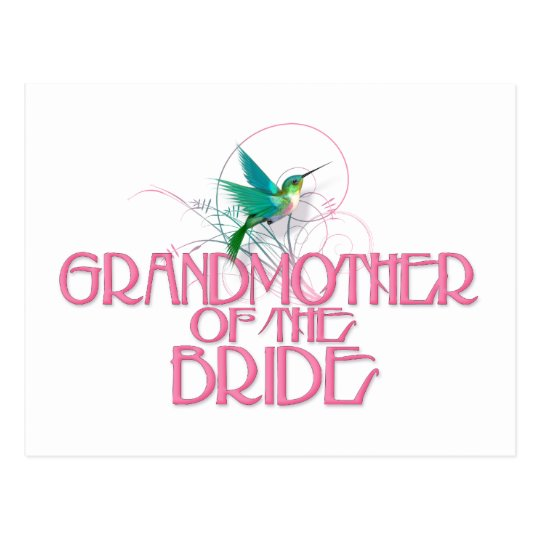 Hummingbird Grandmother of the Bride Postcard