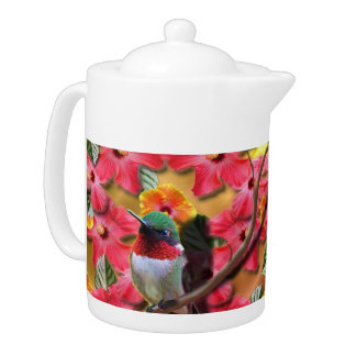 Hummingbird Haven Teapot