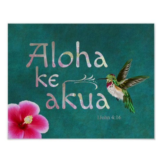 Hummingbird Hawaiian Bible Verse Poster