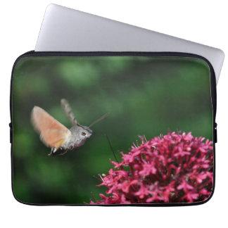 Hummingbird hawk-moth hovering laptop computer sleeve