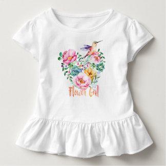 Hummingbird Heart Bouquet Flower Girl Toddler T-shirt