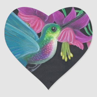 Hummingbird Heart Sticker