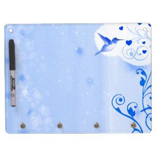 Hummingbird Hearts 2 Dry Erase Board With Keychain Holder