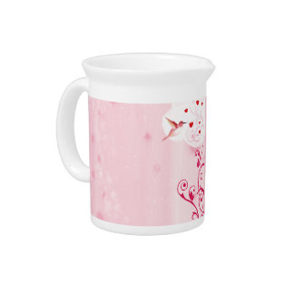 Hummingbird Hearts Drink Pitcher