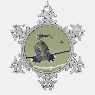 Hummingbird & Honey Bee Ornament