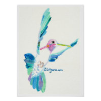 Hummingbird Hover Print and Poster print