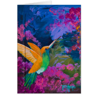 Hummingbird Hummers Paradise Card