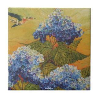 Hummingbird & Hydrangea Tile