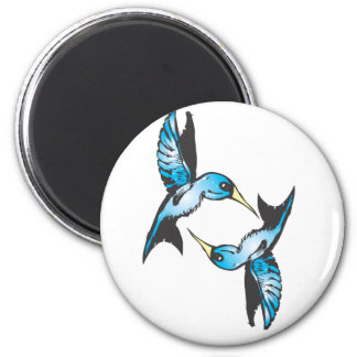 Hummingbird in Blue Magnet
