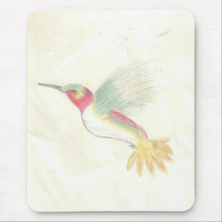 Hummingbird in Colored Pencil Mouse Pad