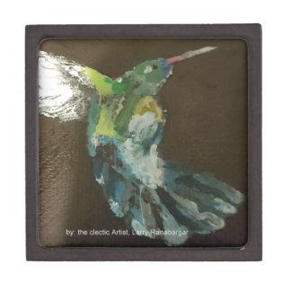 """Hummingbird in flight!""  3""x3"" Gift Box"