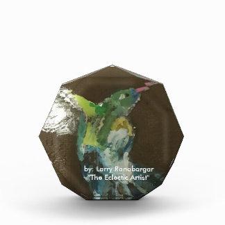 """Hummingbird in flight!"" acrylic award"