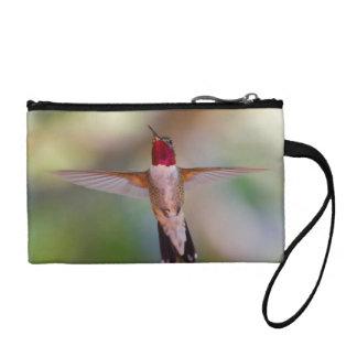 hummingbird in flight coin wallet