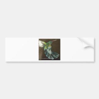 """""""Hummingbird in flight"""" Bumper Sticker"""