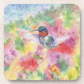 Hummingbird in Flight cork coaster