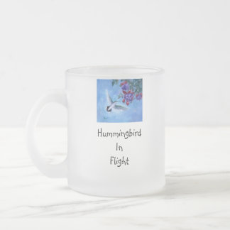 Hummingbird In Flight Frosted Mug