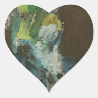 """""""Hummingbird in flight"""" Heart Sticker"""