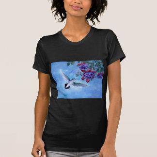 Hummingbird In Flight Ladies Tshirt