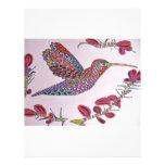 Hummingbird in Flight Letterhead Design