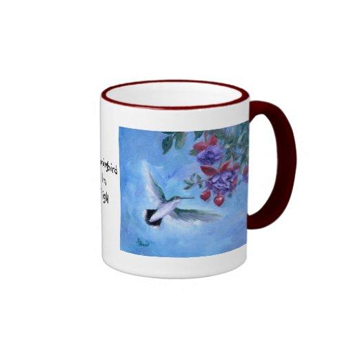 Hummingbird In Flight Mug