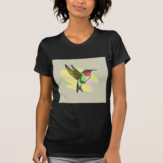Hummingbird in Flight on Textured Background T-Shirt