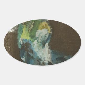 """""""Hummingbird in flight"""" Oval Sticker"""