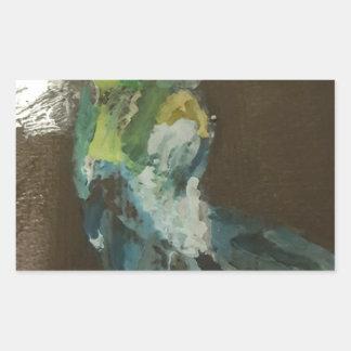 """""""Hummingbird in flight"""" Rectangular Sticker"""