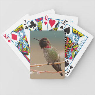 HUMMINGBIRD IN THE RAIN BICYCLE PLAYING CARDS
