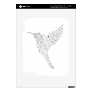 Hummingbird Jamming Out Decal For iPad 3