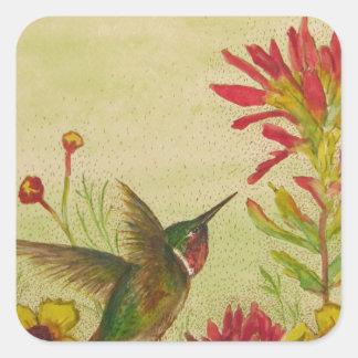 hummingbird.jpg pegatina cuadrada
