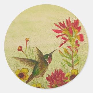 hummingbird.jpg pegatina redonda