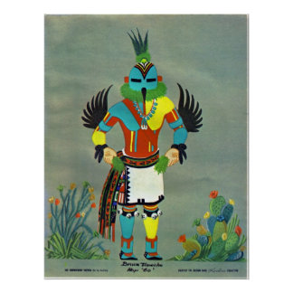 """Hummingbird"" kachina Poster"