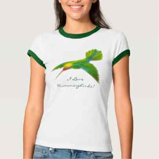 Hummingbird Ladies Ringer Shirt