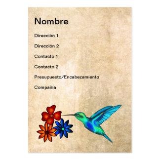 Hummingbird Large Business Card
