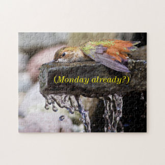 Hummingbird  Laying in Water Jigsaw Puzzles