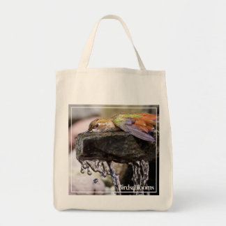 Hummingbird  Laying in Water Tote Bag